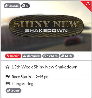 【iRacing】13weekの楽しみ方!Ranked Raceに要注意
